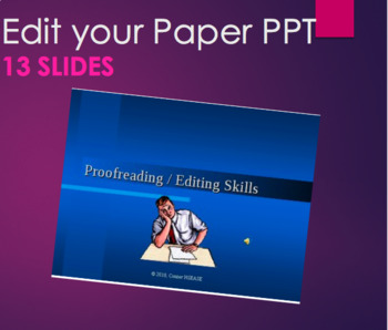 Edit your Essays, Research, and Writing PPT