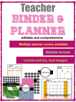 EditabLE 2018-2019 Teacher Binder/Planner |FREE UPDATES|
