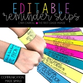 Editabe Parent Reminder Slips