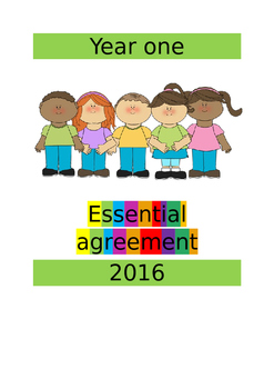 Editable Essential Agreement A4 front cover page
