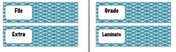 Editable 10 Drawer Cart Labels
