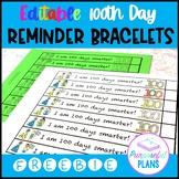 Editable 100 Days Smarter Bracelets FREEBIE