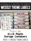 Editable 12x12 Storage Container Labels