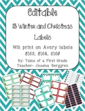 Editable 13 Winter and Christmas Labels