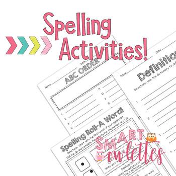15 Word Spelling List - Test EDITABLE