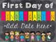 Editable 1st Day of Kindergarten Sign