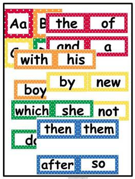 First Grade Word Wall: Editable