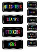 Editable 2 Black/Colorful Teacher Toolbox Labels
