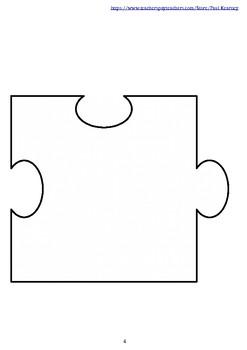 Editable 20 Piece Blank Puzzle Template