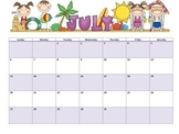 Editable 2013-2014 Monthly Calendars