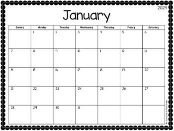 {Editable} 2017-2018 Calendar!