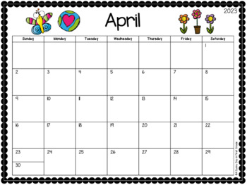 {Editable} 2018-2019 Calendar!