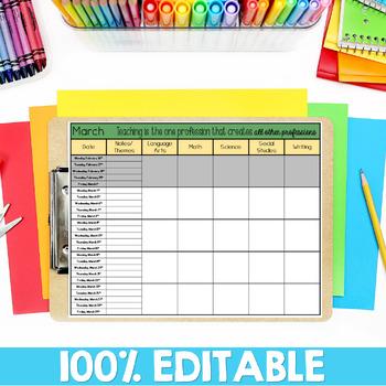 Curriculum Planning Calendar 2017-2018 School Year
