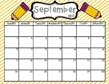 Editable 2017-18 Calendar