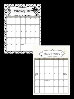 Editable 2016-20 Calendar and Planner/Binder Covers