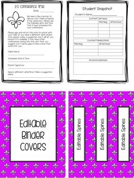 Teacher Binder Editable 2016-2017 Fleur De Lis Teacher Calendar/Planner Bundle
