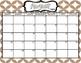 Editable 2017-18 Kraft Paper Calendar