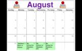 Editable Calendar 2017-18 Chicago Public Schools Schedule