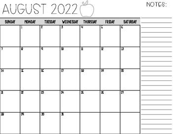 Editable 2017 - 2018 Monthly Calendar