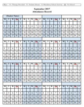 Editable 2017-2018 Whole Caseload Attendance Record