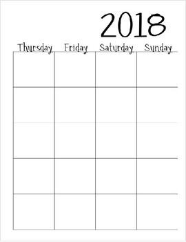 Editable 2018-2020 Calendar/Planner