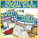 Editable 2021 Calendar & Newsletter bundle