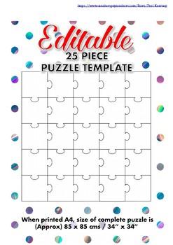 Blank Puzzle Template Teaching Resources | Teachers Pay Teachers