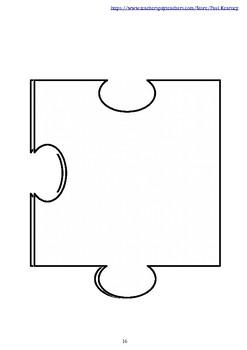 Editable 25 Piece Blank Jigsaw Puzzle Template