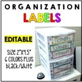 Editable 3 Drawer Sterilite Labels
