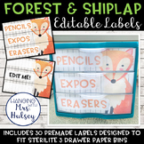 Editable 3 Drawer Sterilite Labels (Forest and Shiplap)
