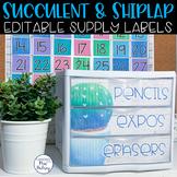Editable 3 Drawer Sterilite Labels (Succulent and Shiplap)