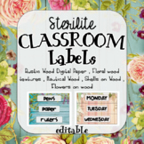 Editable 3 Drawer Sterilite Labels  - Vintage/Ocean Theme