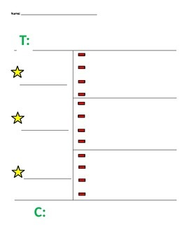 Editable 3- or 4-detail Step Up to Writing template