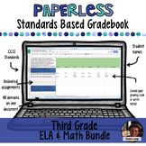 #TPTDIGITAL Paperless Digital Standards Based Gradebook - 3rd Grade BUNDLE