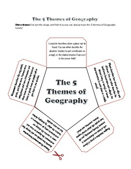 5 Themes of Geography Lesson and Back To School Postcard Writing Activity