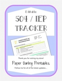 504 / IEP *EDITABLE* Accommodations and Modifications Tracker