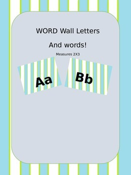 Editable! 64 word wall words  AND word wall letters!!