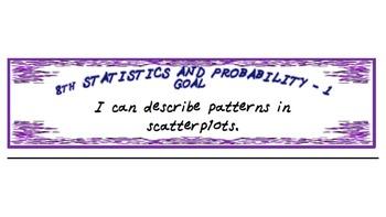 Editable 8th Grade Math's Statistics and Probability Checklists