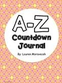 Editable A-Z Countdown Journal