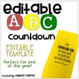 Editable ABC Countdown
