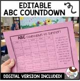 Editable ABC Countdown to Summer Calendar