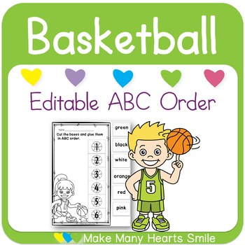 Editable ABC Order: Basketball
