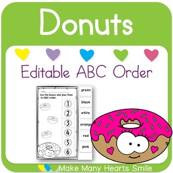 Editable ABC Order: Donuts