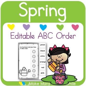 Editable ABC Order: Flowers