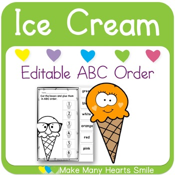 Editable ABC Order: Ice Cream