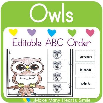 Editable ABC Order: Owls