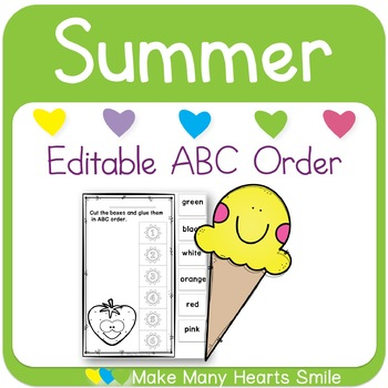 Editable ABC Order: Summer