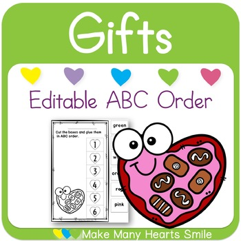 Editable ABC Order: Valentine's Day