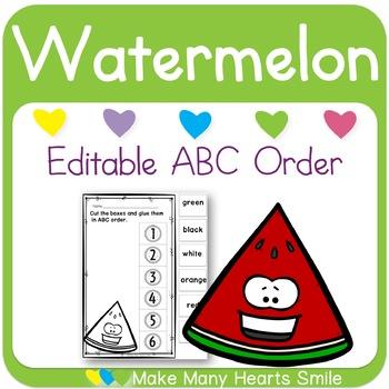 Editable ABC Order: Watermelon