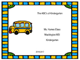 Editable ABC of Kindergarten Handbook